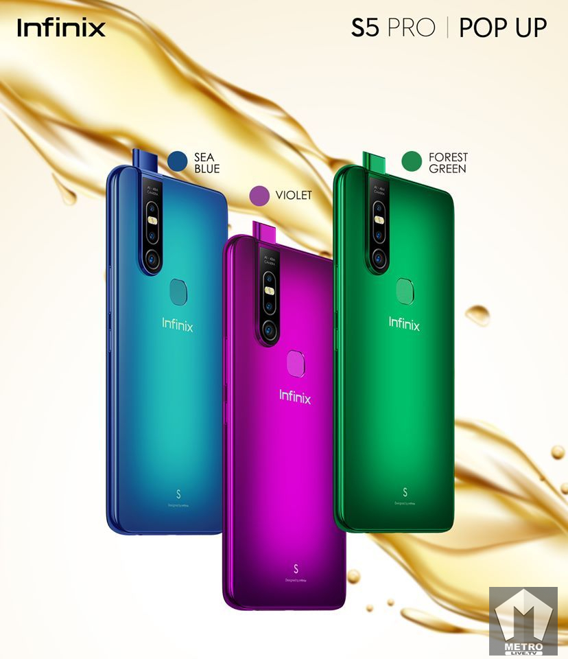 Infinix S5 PRO 40MP Pop-Up Selfie Camera- The Phone For A Fashionista