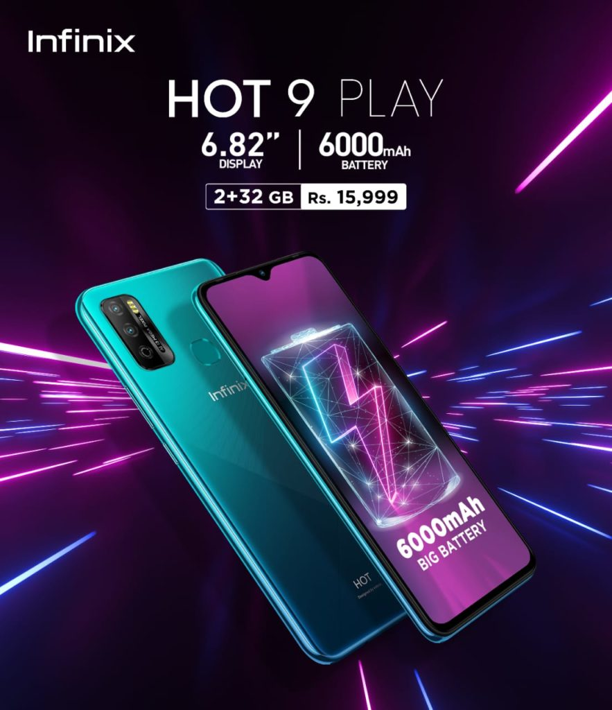 Infinix Launches Hot 9 play with Massive 6000 mAh Battery